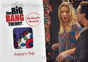 BIG BANG THEORY #M17 PENNYS TOP WARDROBE CARD ~ KALEY CUOCO ~ 2012