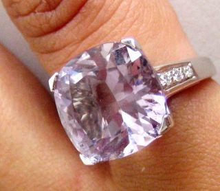 Mauboussin 18K White Gold Amethyst Diamond Ring
