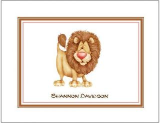 Jungle Lion Personalized Note or Thank You Cards