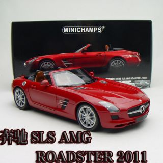 18 Minichamps Mercedes Benz SLS AMG Roadster 2011 Red 100039030 Free