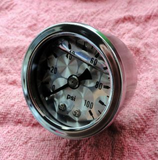 "Old Skool 1 1 2"" Oil Pressure Gauge Harleys Customs Choppers"