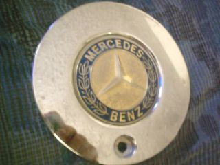 Qty x1 Mercedes Benz Chrome Metal Rim Gold Emblem Wheel Center Cap Hub