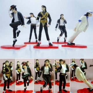 Michael Jackson 5pcs Dolls Billie Jean Black or White Toys