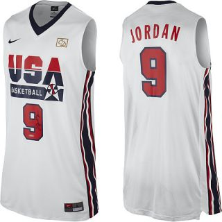 Michael Jordan Signed Throwback USA Basketball Jersey UDA