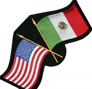 US Mexico Mexican Flag Heritage Pride Proud Biker Patch 8