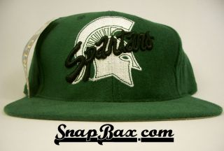 Vintage Deadstock Michigan State Spartans Snapback Hat Cap Tow Big