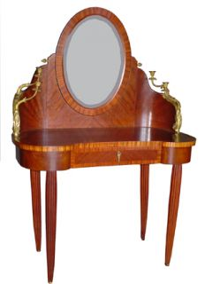 French Art Deco Vanity with Bronze Mounts 2811