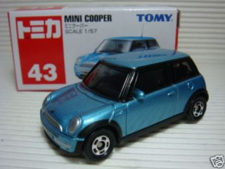 New Japan Tomy Tomica BMW Mini Cooper Blue Toy Car 1 57