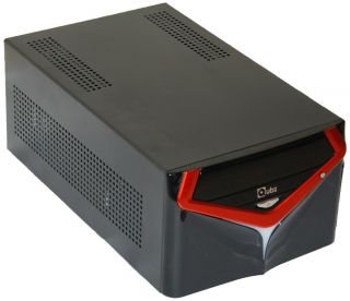 Mini Gaming ITX PC HTPC Case Takes full size ATX PSU 3 5 HDD Dual slot