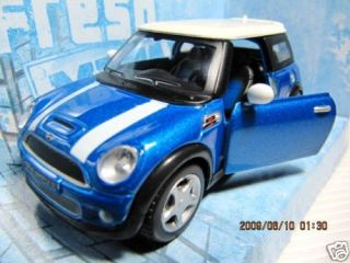 New Maisto Mini Cooper s Blue Diecast Toy Car RARE