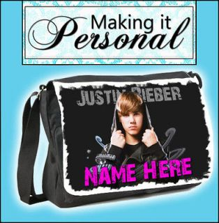 Personalised JUSTIN BIEBER Large Shoulder Messenger Bag~School~College