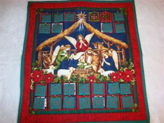 FABRIC NATIVITY SCENE ADVENT CALENDAR 26 x 28~CHRISTMAS COUTDOWN