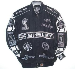 SIZE L AUTHENTIC FORD MUSTANG Shelby Cobra Racing EMBROIDERED Jacket