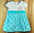 Size 4 5 years new fashion white blue toddler & Baby Girls Dress kids
