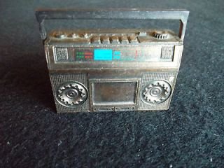 ANTIQUE/VINTAGE BRONZE RADIO/TAPE PLAYER PENCIL SHARPENER