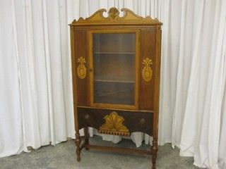Antique Art Deco Style China Curio Cabinet Hutch 1930's Very Nice