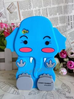 * Blue Baby Elephant Soft Silicone Case Cover For iPod Touch 4 4G 4TH