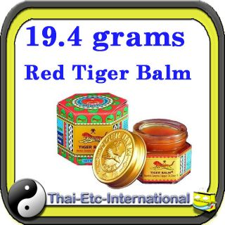 19.4g TIGER BALM RED Herbal Rub Massage ointment Pain Relief Muscle