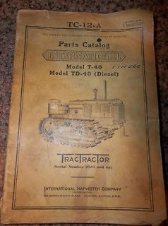 international harvester tractor parts