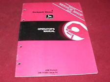 John Deere 4 Backpack Blower Operators Manual