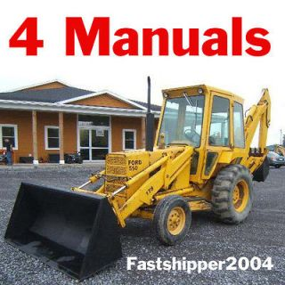 Ford 550 550 Tractor Loader Backhoe Service Operators Parts Catalog CD