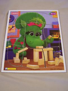 Baby Bop Wooden 8 Pc Puzzle Barney 1996 Lyons Group Wood Dinosaur