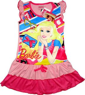 BARBIE DOLL Girls Pink Party Dress Childrens Kids Dresses Clothing