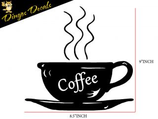 Newly listed 22 COFFEE CUP DECAL WALL STICKER KITCHEN java café