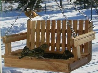 SWING TYPE BIRD FEEDER MADE from CEDAR, HAND MADE Make Great Gifts for