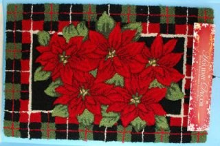 New Nourison Holiday Decor Christmas Print Rug Mat 20 x 32