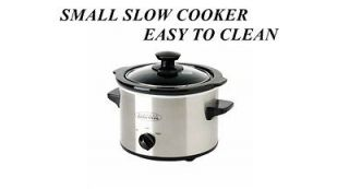 COUNTERTOP TABLE TOP STAINLESS STEEL SMALL SLOW COOKER WARMER KITCHEN