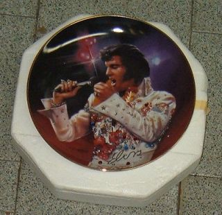 Elvis Presley THE KING Collector Plate Bradford Exc. 4225B