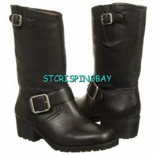 LUCKY BRAND AAID BOOTS WOMENS 7.5 NEW BLACK LEATHER RETAIL $160