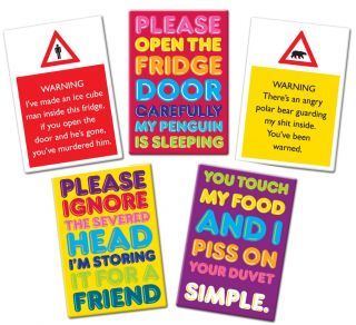 Sign Fridge Magnet Funny Fun Slogan Magnetic Great Gift Idea New