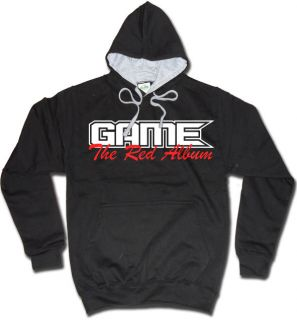 GAME HOODY THE RED ALBUM HIP HOP HOODIE DR. DRE COMPTON