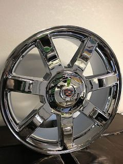 20 Inch Chrome Cadillac Escalade 7 Spoke Factory OE Wheels Rims 6x5.5
