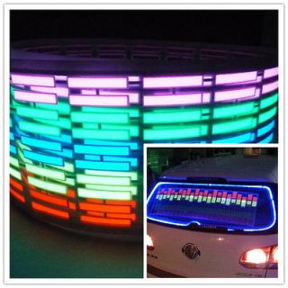 music Activated Car Stickers Equalizer Glow 12V LED Light 45*11CM