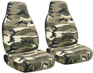 FORD RANGER 60 40 hiback CAR SEAT COVERS camo tan beige