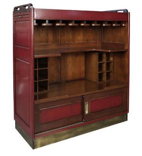 AUTHENTIC MODELS Casablanca Bar Red Glazed Home Pub Reproduction