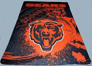 Chicago Bears blanket 90x66 XXL  NFL da bears bedding we