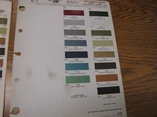1979 International Harvester Color Paint Chip Sheet R M Products