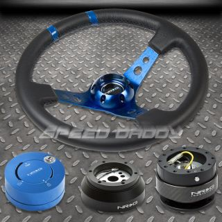 NRG BLUE STEERING WHEEL+HUB+CARB ON QUICK RELEASE+BL LOCK KIT 69 02