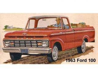 1963 Ford 100 Pickup Truck Refrigerator / Tool Box Magnet
