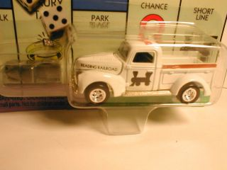 MONOPOLY Reading Railroad (40`s) FORD TRUCK white johnny lightning