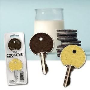 Cookeys Key Caps  2 Cookie Key Caps  Oreo  Fun Key Covers  NEW