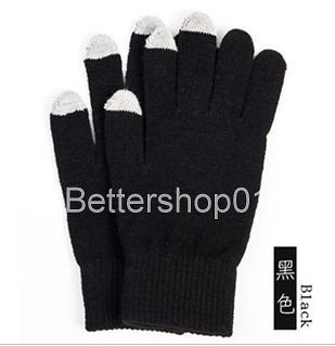 Unisex Mens Ladies Winter knit Easy Click Touch Screen Magic Gloves