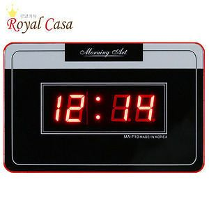 Hyundai Hmall korea FND LED black clear simple digital wall clock