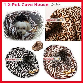 1X Dog Cat Pet puppy Soft Wild Cushion Bed Pad Sofa House Zebra