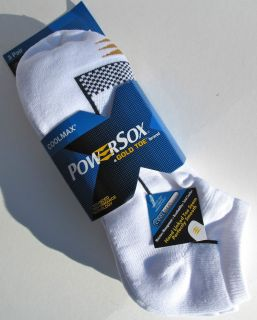 PAIR SOCKS~GOLDTOE *COOLMAX* NO SHOW for Men & Women MEDIUM & LARGE