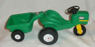 Vintage Little Tikes DOLLHOUSE Doll Sized Tractor + Trailer RARE Toy